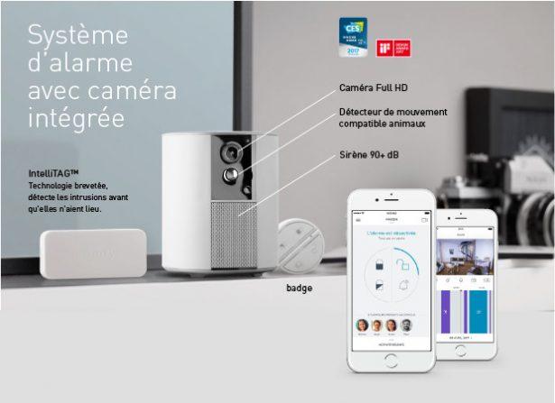 Système d'alarme Somfy avec caméra intégrée